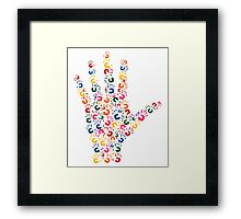 Hand brush Framed Print
