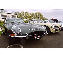 Jaguar E-Type and Austin Healey Photographic Print