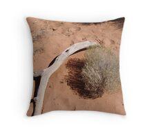 Sunburnt Branch Throw Pillow