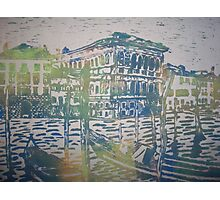 Venice in Screen print Photographic Print