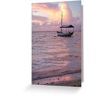 Raro dawn - Cook Islands Greeting Card