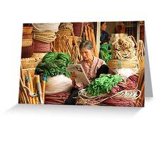 Rope Shop, Hanoi Northern Vietnam Greeting Card