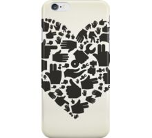 Hand heart iPhone Case/Skin