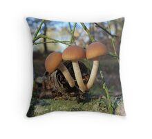 Psathyrella Piluliformis Throw Pillow