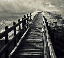 Bridge through Fog by lookagain