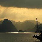 Sunset on Halong Bay, Northern Vietnam by Kristi Robertson