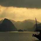 Sunset on Halong Bay, Northern Vietnam by Kristi Robertson