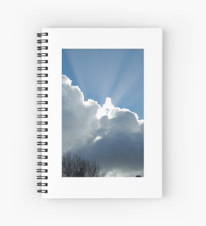 Heavenly rays Spiral Notebook