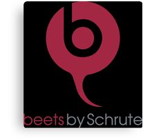 Beets By Schrute - The Office US - (Beats By Dr. Dre) Canvas Print