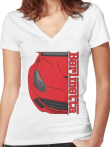 Berlinetta Women's Fitted V-Neck T-Shirt