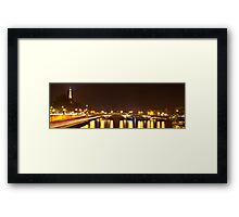 Eiffel Tower overview - panorama Framed Print