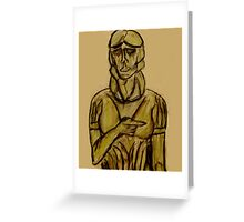 Guardian of Remembrance (Sketch of Cemetery Statue) Greeting Card
