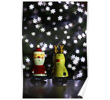 Let it snow: Christmas Card, Happy Holidays Poster