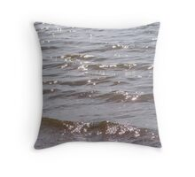 Diamonds in the water Throw Pillow
