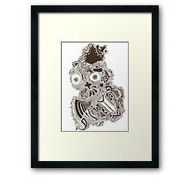 King owl the Thief (Sepia) Framed Print