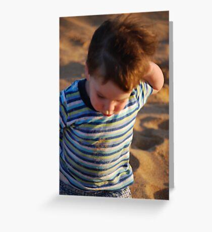 Grover at beach Greeting Card