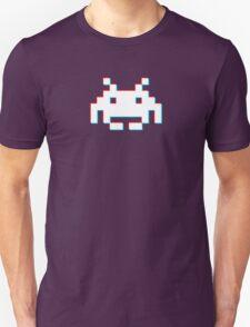 Red Cyan 3D Invader T-Shirt