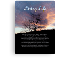 Living Life Canvas Print