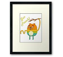 Bravest Warriors Adventure Time - Bear Jake the Dog Gas Powah Framed Print