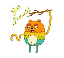 Bravest Warriors Adventure Time - Bear Jake the Dog Gas Powah Photographic Print