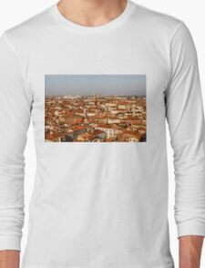 Impressions of Venice - Red Roofs and Cruise Ships Long Sleeve T-Shirt