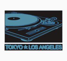 TURNTABLISM: TOKYO TO LOS ANGELES (BLUE TEE) by SOL  SKETCHES™