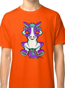 Horse Purple and Turquoise  Classic T-Shirt