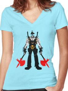 Ten of Clubs - part of the Full Deck Series Women's Fitted V-Neck T-Shirt