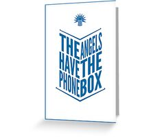 The Angels Have The Phone Box Tribute Poster Dark Blue On White Greeting Card