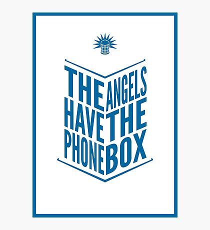 The Angels Have The Phone Box Tribute Poster Dark Blue On White Photographic Print