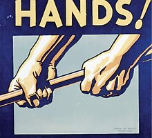 WPA United States Government Work Project Administration Poster 0192 Protect Your Hands You Work With Them by wetdryvac