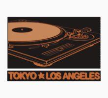 TURNTABLISM: TOKYO TO LOS ANGELES (ORANGE TEE) by SOL  SKETCHES™