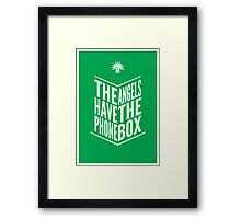 The Angels Have The Phone Box Tribute Poster White on Green Framed Print