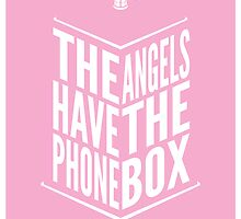 The Angels Have The Phone Box Tribute Poster White on Pink by fauxtauxgraphy
