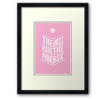 The Angels Have The Phone Box Tribute Poster White on Pink Framed Print