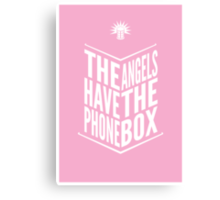 The Angels Have The Phone Box Tribute Poster White on Pink Canvas Print