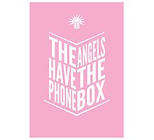 The Angels Have The Phone Box Tribute Poster White on Pink Photographic Print