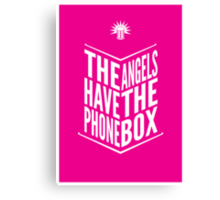 The Angels Have The Phone Box Tribute Poster White on Magenta Canvas Print