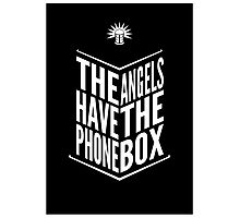 The Angels Have The Phone Box Tribute Poster White on Black Photographic Print
