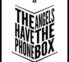 The Angels Have The Phone Box Tribute Poster Black on White by fauxtauxgraphy