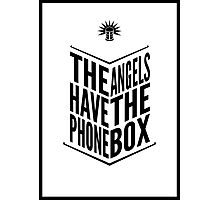 The Angels Have The Phone Box Tribute Poster Black on White Photographic Print