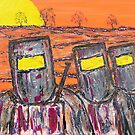 """Ned Kelly's Gang at Sunset"" EJCairns; SOLD by EJCairns"
