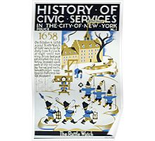 WPA United States Government Work Project Administration Poster 028 History of Civic Services New York City 1658 The Rattle Watch Poster