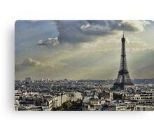 Eiffel Tower - Vanilla Sky Canvas Print