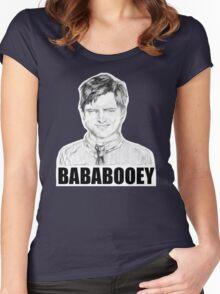 Drunk Ben Wyatt Portrait Women's Fitted Scoop T-Shirt