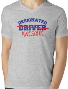 DESIGNATED DRIVER designated AWESOME! Mens V-Neck T-Shirt