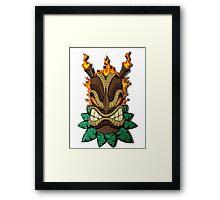 Flaming Tiki Framed Print
