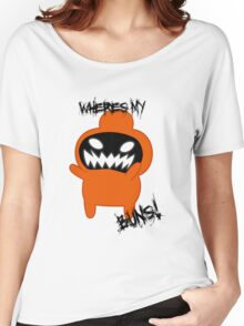 Bravest Warriors - Jelly Kid Wheres My Buns Angry Women's Relaxed Fit T-Shirt