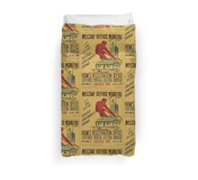 WPA United States Government Work Project Administration Poster 0861 Welcome Defense Workers List And Secure Houses Apartments Rooms Home Registration Office Duvet Cover