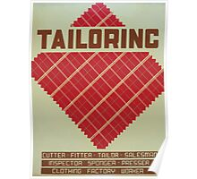 WPA United States Government Work Project Administration Poster 0966 Tailoring Poster